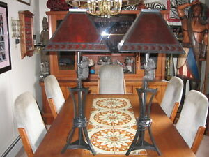 SET OF TABLE LAMPS AND MATCHING FLOOR LAMP