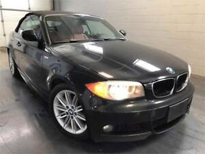 2012 BMW 1 Series 128i Convertible M Pack 6 Speed Red Interior