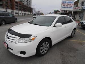 2011  Toyota Camry  Auto Leather Sedan White Only 150,000km