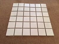 Glazed Mosiac Tiles - Gloss White x34 sheets