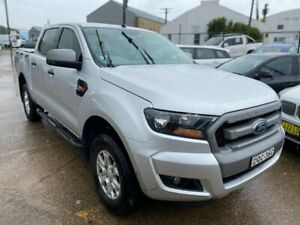 2017 Ford Ranger PX MkII XLS Double Cab Ingot Silver 6 Speed Manual Utility Wickham Newcastle Area Preview