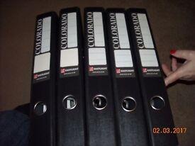5 x black office folders