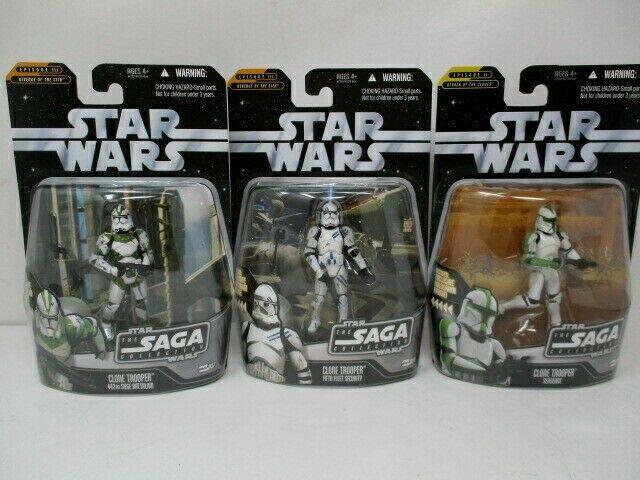 Hasbro Star Wars Saga Collection Lot Of 3 Clone Troopers