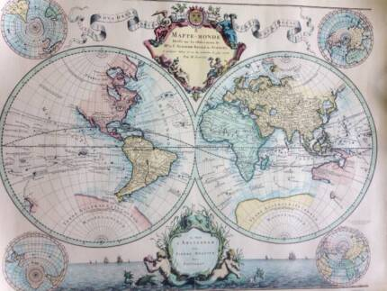 Large world map vintage print canvas new art gumtree world map print gumiabroncs Images