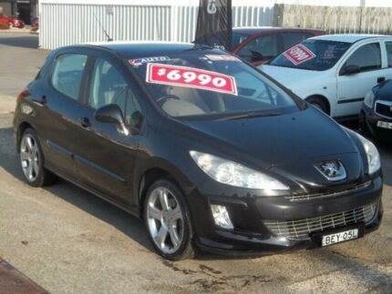 2008 Peugeot 308 T7 XTE HDI Black 6 Speed Sports Automatic Hatchback