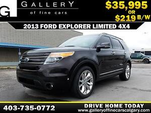 2013 Ford Explorer Limited 4X4 $219 biweekly APPLY NOW DRIVE NOW