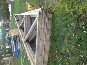 14 , 7' x 30' used trusses