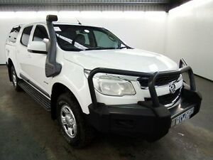 2013 Holden Colorado RG LX (4x4) White 5 Speed Manual Crewcab Albion Brimbank Area Preview