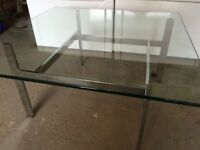 table vitre stainless