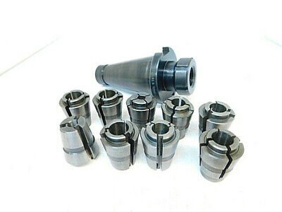 Lot 64 Used Balas Nmtb50 Balas Collet Chuck Holder With 9pcs. Collets