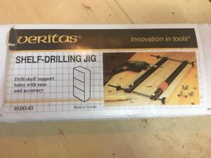 Veritas Shelf Drilling Jig - in box - Lee Valley