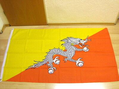 Fahnen Flagge Bhutan Neu - 90 x 150 cm