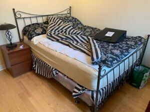 Queen Bed with Mattress and Couch Sofa Both Excellent Condition