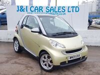 SMART FORTWO 1.0 PASSION MHD 2d AUTO 71 BHP LOW INSURANCE GROUP (silver) 2009