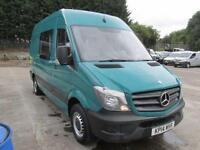 Mercedes-Benz Sprinter 313Cdi MWB High Roof 6 Seater Crew Van 3.5T Van (2014)