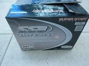 12 VOLT 130AH 1000CCA SSB DRYFIT BATTERY AGM DEEP CYCLE DUAL Landsdale Wanneroo Area Preview
