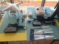 DJI Phantom 3 Advance Radio Controlled Drone Quadcopter with 2K HD Camera, Carrier Bag & Extras