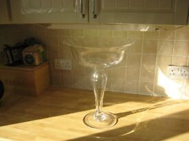 Tall stemmed glass dish in Beautiful condition