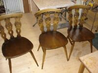 Ercol dining chairs classic design.