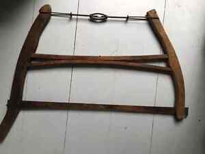 Antique bucksaw (and other farm tools)