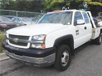 2002 CHEVROLET SILVERADO 3500 EXTENDED CAB DIESEL TOW TRUCK PTO!
