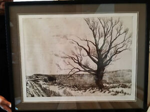 Saskatchewan's The Lone Tree (Etching, paper by Jill Armstrong)