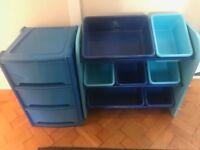 Children's Blue Plastic Furniture