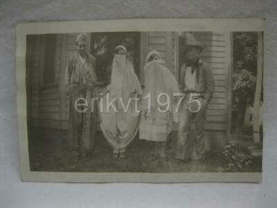 Boy Gypsy Costume (4 Children In Halloween Costumes Gypsies Cow Boy Old Vtg Photo Original)