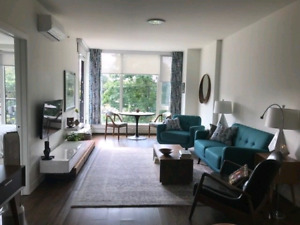 Bright and beautiful 1 bedroom plus den South end