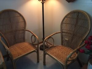 PAIR OF QUALITY STYLISH WICKER CHAIRS