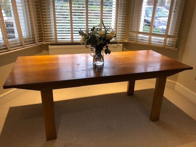 Oak Dining Table Sits 8 By Conran Used In Notting Hill London