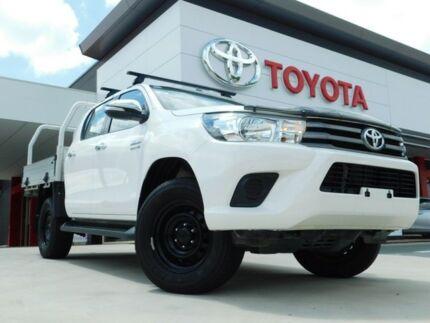 2017 Toyota Hilux GUN136R SR HI-Rider White 6 Speed Automatic Dual Cab Utility Greenway Tuggeranong Preview