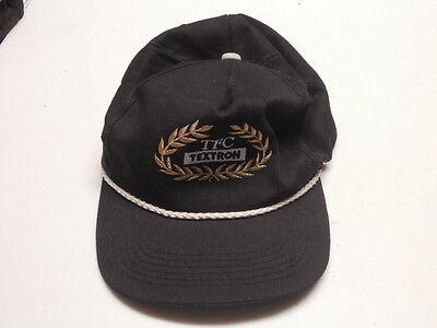 Tfc Textron Black Mens Baseball Cap With Adjustable Snap Back