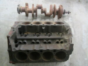 4 Bolt 350 Small Block Chevy Motor Block and Crank