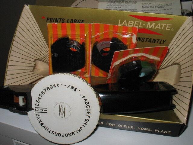 LABEL MATE LD-1 VINTAGE SUPER RARE 3 CARTRIDGE BOX MAKER DURAMATIC CO