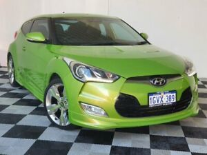 2013 Hyundai Veloster FS2 + Coupe Green 6 Speed Manual Hatchback Victoria Park Victoria Park Area Preview