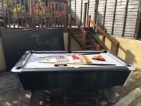 Pool Table for the Outdoors £400.00 working order collection of balls and 2 cues included