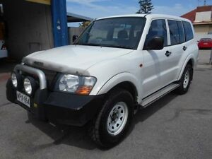 2001 Mitsubishi Pajero NM GLX LWB (4x4) White 5 Speed Manual 4x4 Wagon Christies Beach Morphett Vale Area Preview