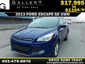 2013 Ford Escape SE AWD $119 bi-weekly APPLY NOW DRIVE NOW