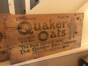Antique Quaker Oats Crate Advertising, Circa 1920