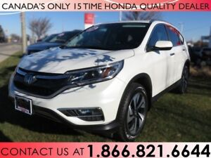2015 Honda CR-V TOURING AWD   1 OWNER   NO ACCIDENTS   LOW KM'S