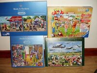 5 JIGSAW PUZZLES FOR SALE