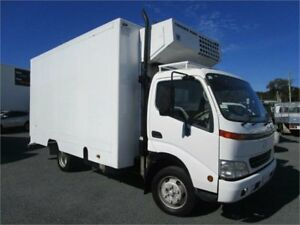 2002 HINO DUTRO REFRIGERATED PANTECH TRUCK 6 PALLET White Truck 3.0l Currumbin Waters Gold Coast South Preview