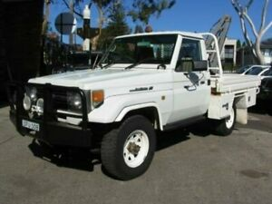 1998 Toyota Landcruiser FZJ75RP (4x4) White 5 Speed Manual 4x4 Cab Chassis Roselands Canterbury Area Preview
