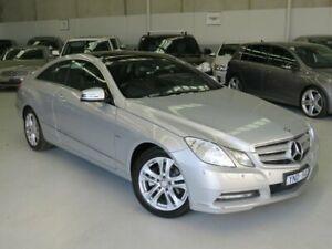 2011 Mercedes-Benz E-Class C207 E250 CGI Elegance Silver 5 Speed Sports Automatic Coupe Seaford Frankston Area Preview