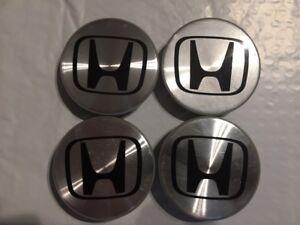 Honda Factory Alloy Wheel Centre caps Silver