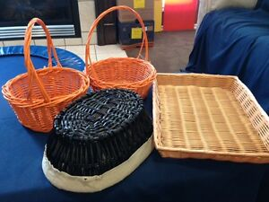 Variety of baskets : 4 for $10 or $3 each.