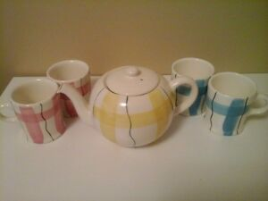 Hycroft Calico teapot and cups