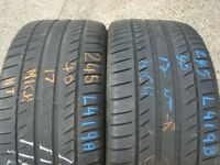 245 40 17 Michelin,Primacy HP,91W,x2 A Pair,6.1mm(168 High Road, RM6 6LU) Part Worn