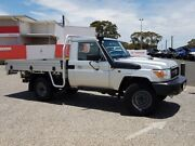 2017 Toyota Landcruiser LC70 VDJ79R MY17 Workmate (4x4) Silver Pearl 5 Speed Manual Cab Chassis Warwick Southern Downs Preview